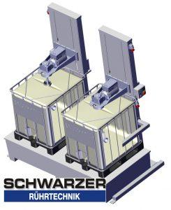 Hubstativ Rührwerk für IBC Container Containerrührwerk